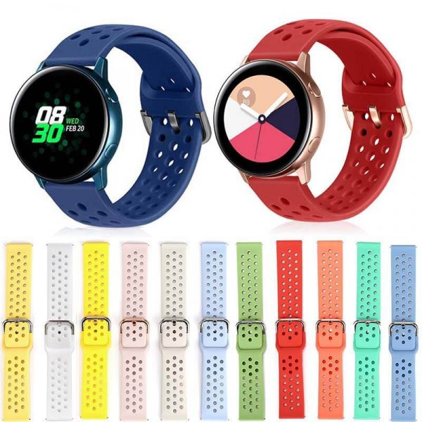 20mm-22mm-Silicone-watch-band-for-Huawei-Withings-Samsung-Galaxy-gear-s3-Amazfit-Bip-Smart-watch