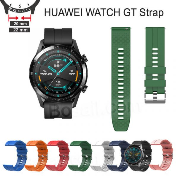 20mm-22mm-silicone-watch-strap-for-HUAWEI-WATCH-GT-2-pro-watch-band