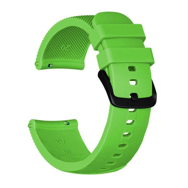 20mm-silicone-strap-for-Garmin-vivoactive-645-green