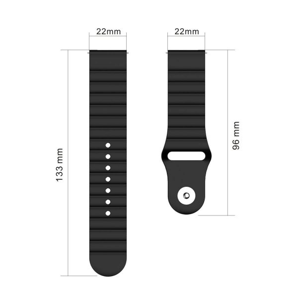 22mm Apple Buckle Silicone Watch Band Size
