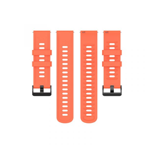 22mm silicone rubber watch strap for Amazfit GTR 47mm