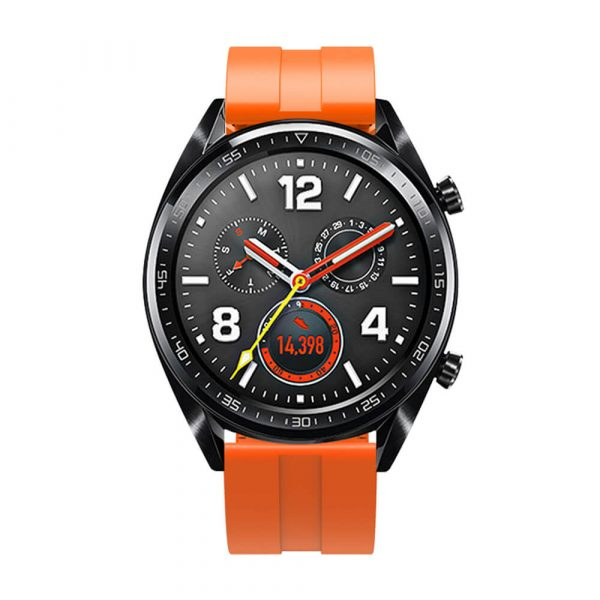 22mm silicone strap for HUAWEI WATCH GT 2 strap Orange 3