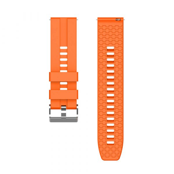 22mm silicone strap for HUAWEI WATCH GT 2 strap Orange 4