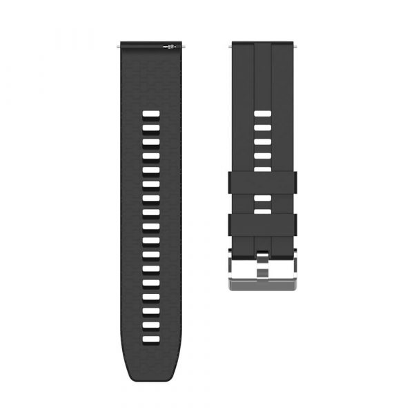 22mm silicone strap for Samsung Galaxy Watch 3 strap Black 4