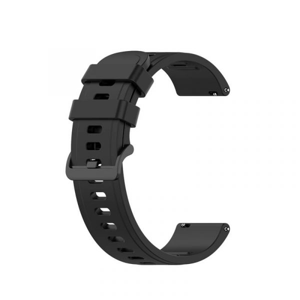 BS-GE-019 20 22mm Silicone Rubber Watch Band Dark