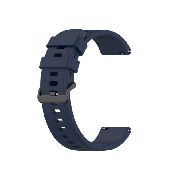 BS-GE-019 20 22mm Silicone Rubber Watch Band Dark Blue