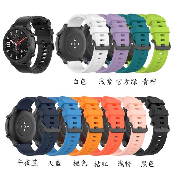 BS-GE-019 20 22mm Silicone Rubber Watch Strap