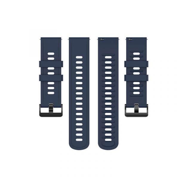 BS-GE-019 20 22mm Silicone Rubber Watch Strap Dark Blue