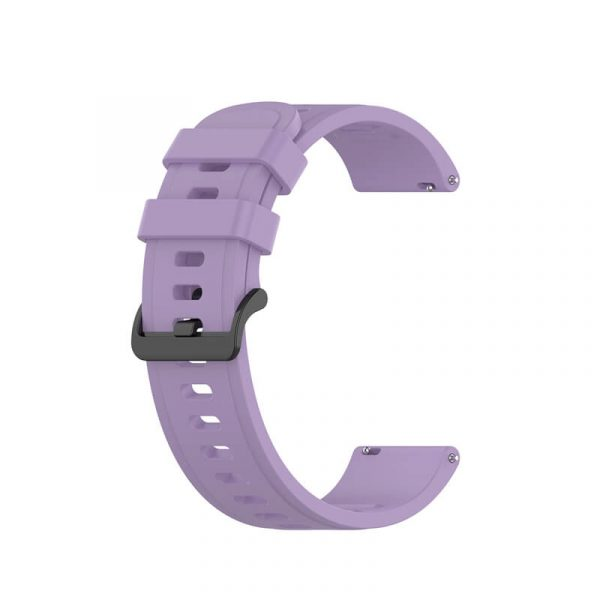 BS-GE-019 20 22mm Silicone Rubber Watch Strap Purple