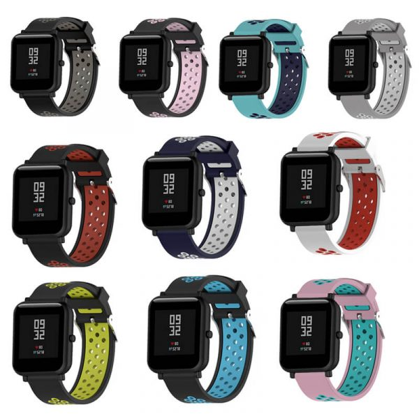 BS-GE-023 Square Buckle Double Colors Nike Watch Band