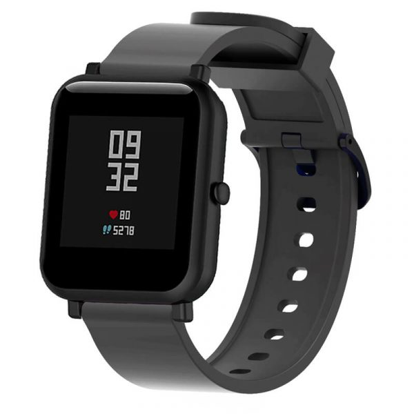 Black 20mm silicone Printed Watch Strap for Amazfit 20mm