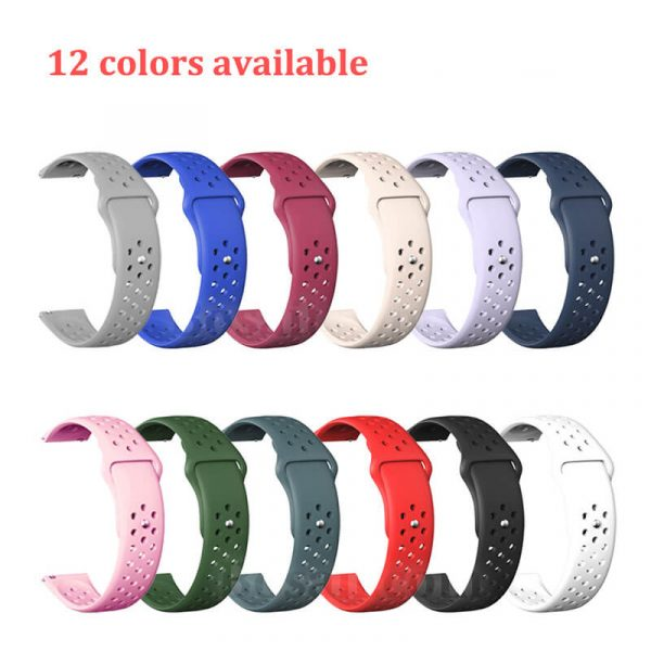 Breathable-Quick-Release-Silicone-Watch-Band-Strap-12-colors-2