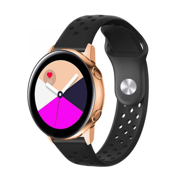 Breathable-Quick-Release-Silicone-Watch-Band-Strap-black-2
