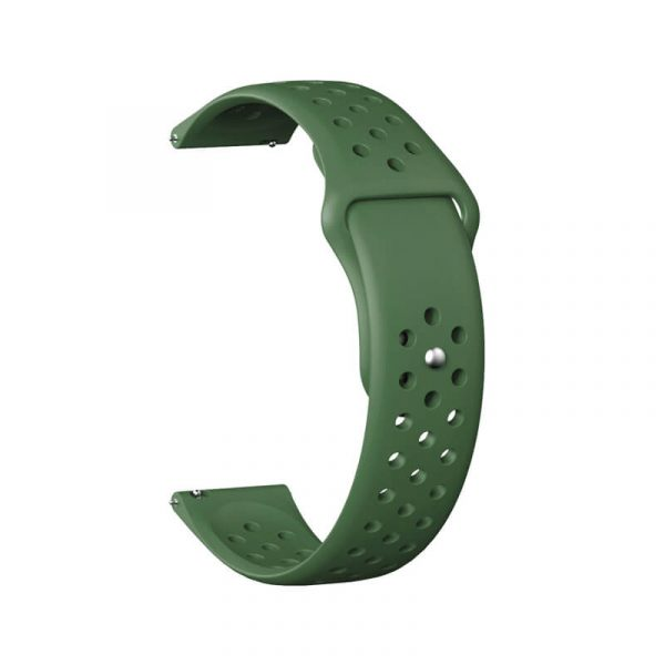 Breathable-Quick-Release-Silicone-Watch-Band-Strap-green-1