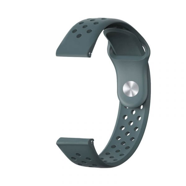 Breathable-Quick-Release-Silicone-Watch-Band-Strap-light-green-1