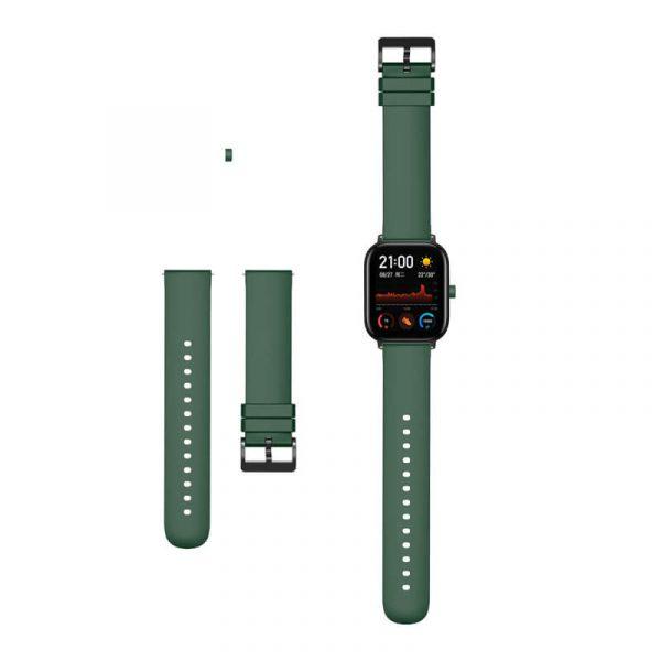 Dark Green Amazfit silicone watch band