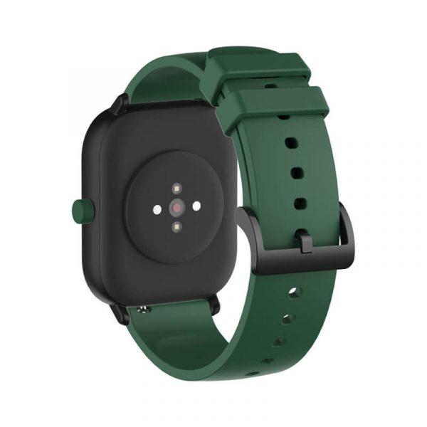 Dark Green Amazfit silicone watch strap