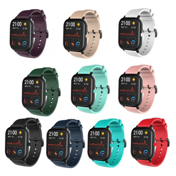 HM-GTS-20 Amazfit 20mm silicone watch bands color