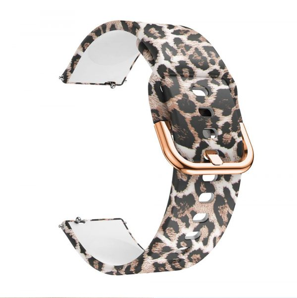 Leopard Printed Silicone Watch Band