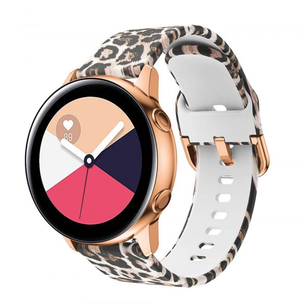 Leopard Printed Silicone Watch Band straps