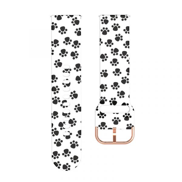 Paw Print Silicone Watch Band strap