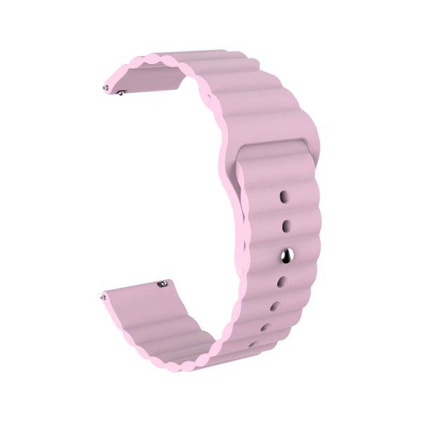 Wavy bump Pink silicone watch band strap