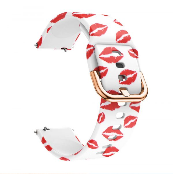 Red Lips Printed Silicone Watch Band