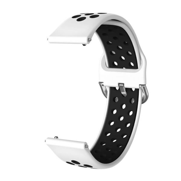 Samsung Galaxy Watch 42mm 46mm Active 2 Two Colors Nike watch strap White Black