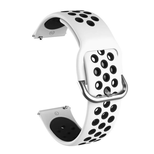 Samsung Galaxy Watch 42mm 46mm Active 2 Two Colors Nike watch strap White Black2