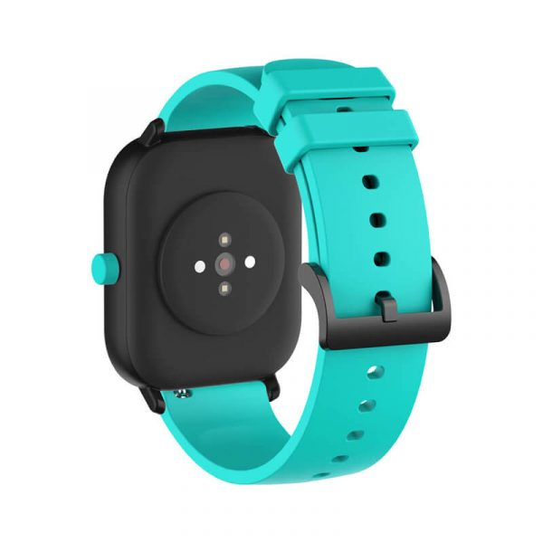 Teal Amazfit 20mm silicone watch band