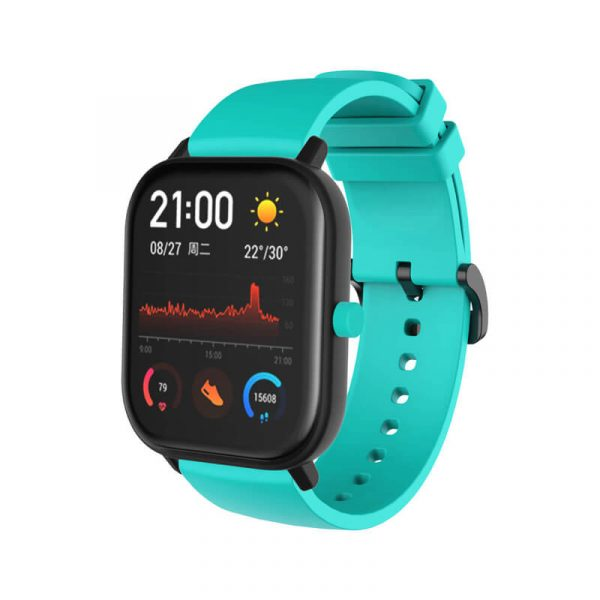 Teal Amazfit silicone watch band