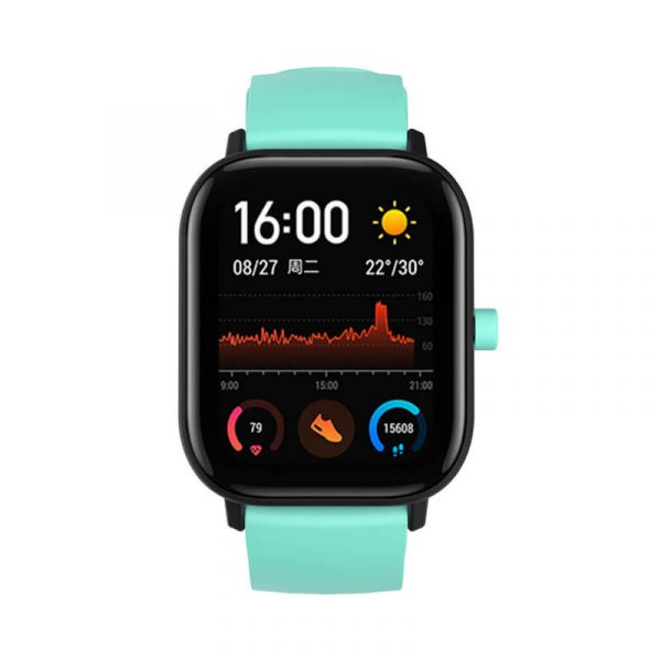 Teal silicone watch band for 20mm Amazfit SmartWatch