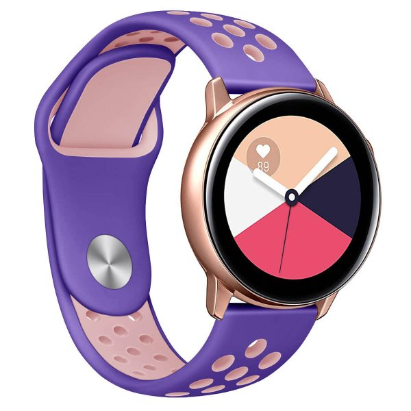 Two Colors Breathable holes Silicone Watch Band band