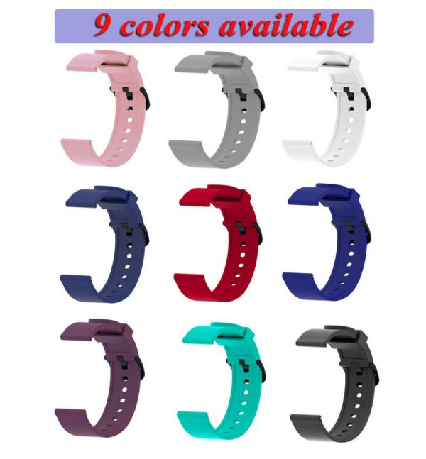 all-color of 20mm silicone Printed Watch Strap for Amazfit 20mm
