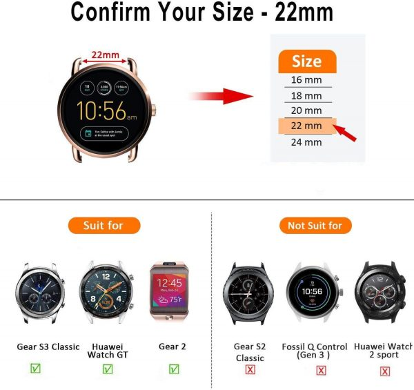 lug width 20mm smart watches
