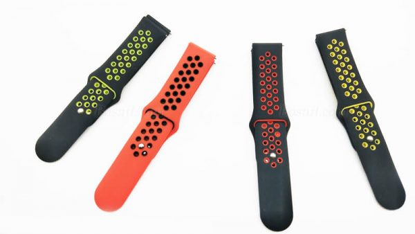 soft silicone rubber two colors Nike watch band strap