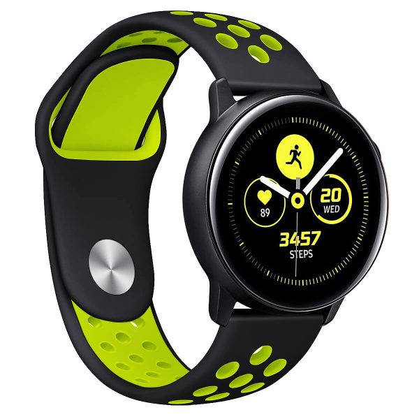 two colors Nike watch band with Apple pin buckle