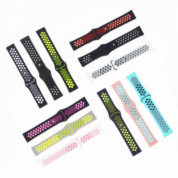 two colors watch band with Apple pin buckle