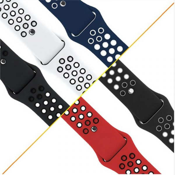 two colors watch straps with Apple pin buckle