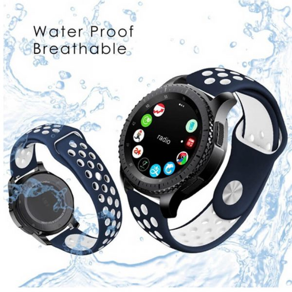 waterproof and breathable holes 2 colors watch band
