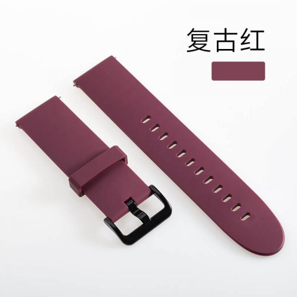 wine red Xiao Mi Color Smart Watch Band